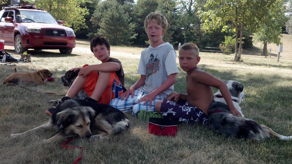 the O'Briant boys and our mutts.